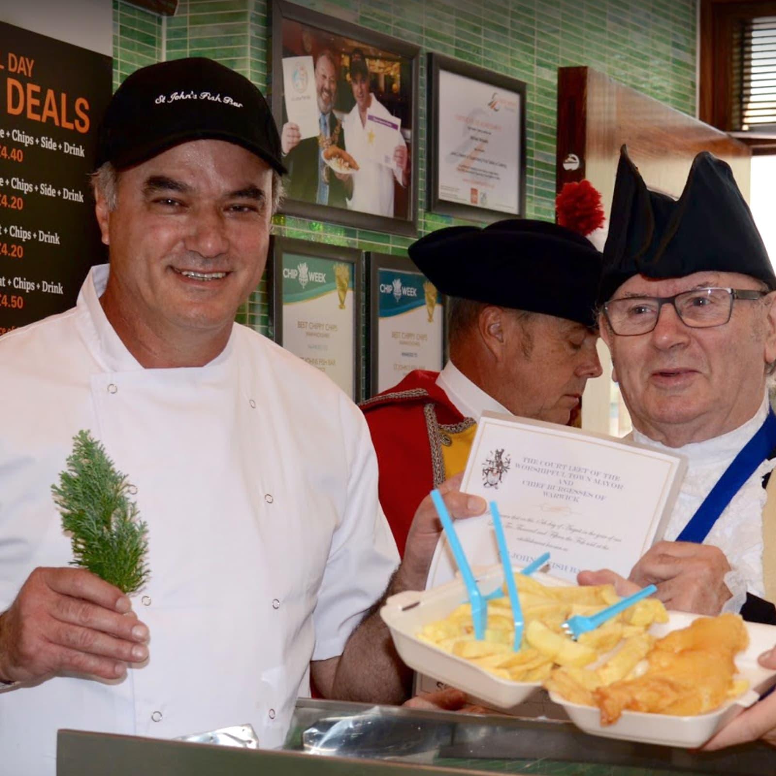 St John's Award winning fish and chips, Warwick